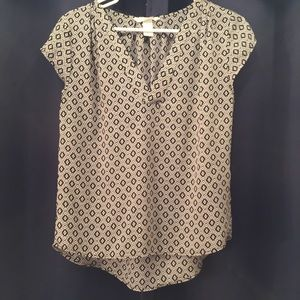 H&M conscious black and white blouse size 4